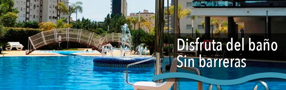 acceso para discapacitados a las piscinas