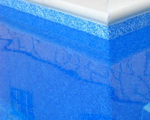 marmol azul al detalle