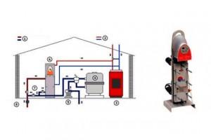 esquema instalación intercambiador de calor
