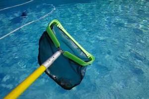 mantenimiento de piscinas recogehojas