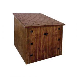 local elevado de madera