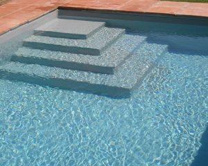 gris claro escalera rectangular